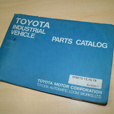 Toyota 2fbe10 2fbe13 2fbe18 2fbe15 Forklift Parts Manual Book Catalog Spare List