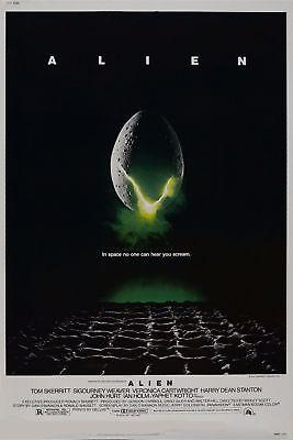Alien Retro Classic Film - Print Poster Art 1979 14x21 24x36In Y234