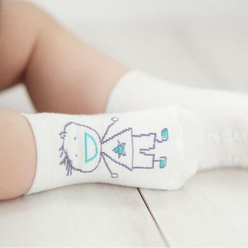 Cartoon Short Baby Girls Anti-slip Cute Socks Cotton Half Silicone Asymmetric