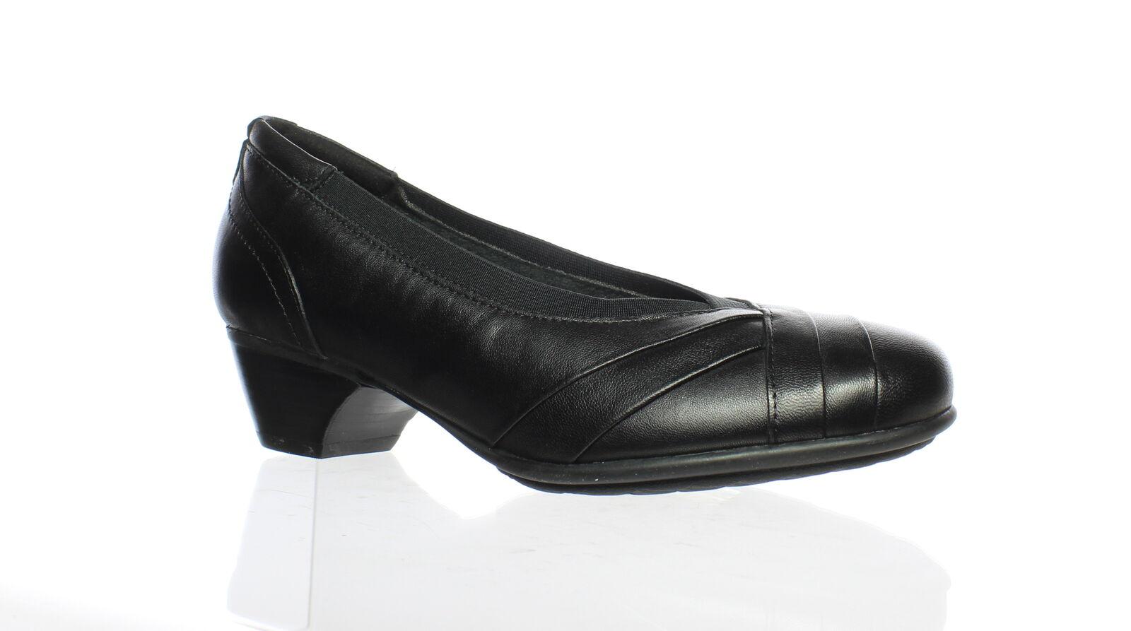 Aravon Womens Patsy Black Snake Pumps Size 6.5 (611064)