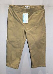 VALLEYGIRL-Brand-Women-039-s-Beige-Pull-On-Crop-Pants-Size-10-BNWT-SR98