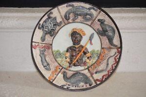 Vintage il falco ceramiche italian handcraft plate aboriginal