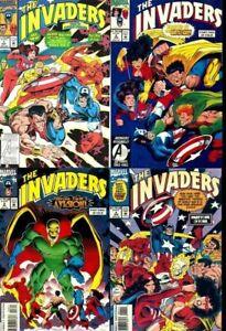 Invaders Complete Set Roy Thomas Dave Hooper Captain America Namor 1 2 3 4 NM
