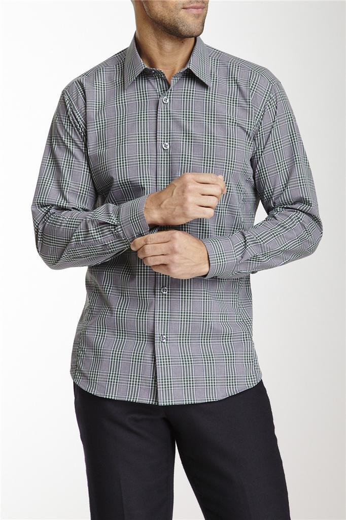 JaROT Lang Plaid Long Sleeve Woven Shirt Größe Medium NWT 260