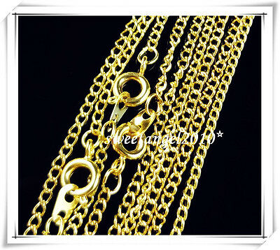 "20Pc Gold/Silver Cross Chain Round Self Closing Clasps Necklace Making 17""/23.5"""
