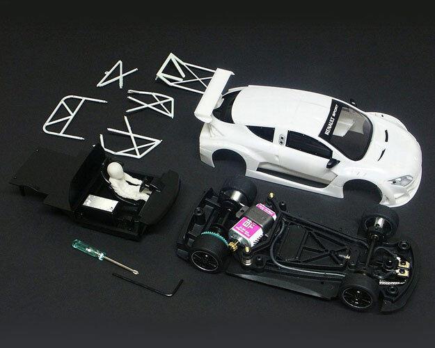 BRM Renault Megane White Kit Slot Car 1 24 BRM019Kit