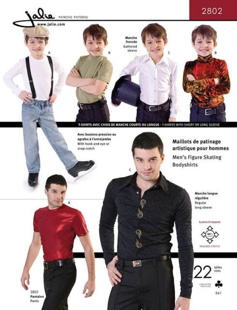 Jalie Mens Boys Figure Skating Bodyshirts Sewing Pattern 2802 In