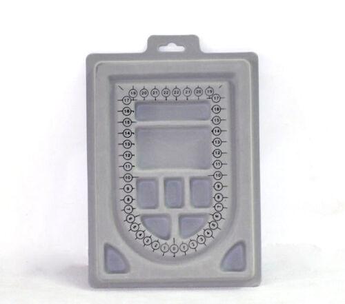 1X Perlenbrett Sortierbrett Perlen Bastelbrett 13x160x230mm Schmuck Grau