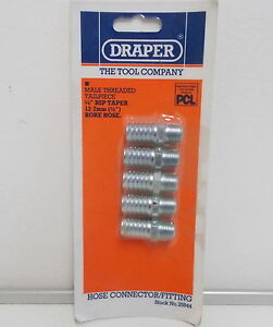 DRAPER-1-4-034-Taper-1-2-034-Bore-PCL-Male-Screw-Tailpieces-Pack-of-5