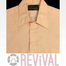 Vintage 70s SEARS Golden Comfort Flower Pattern Polyester s/s Shirt Large L