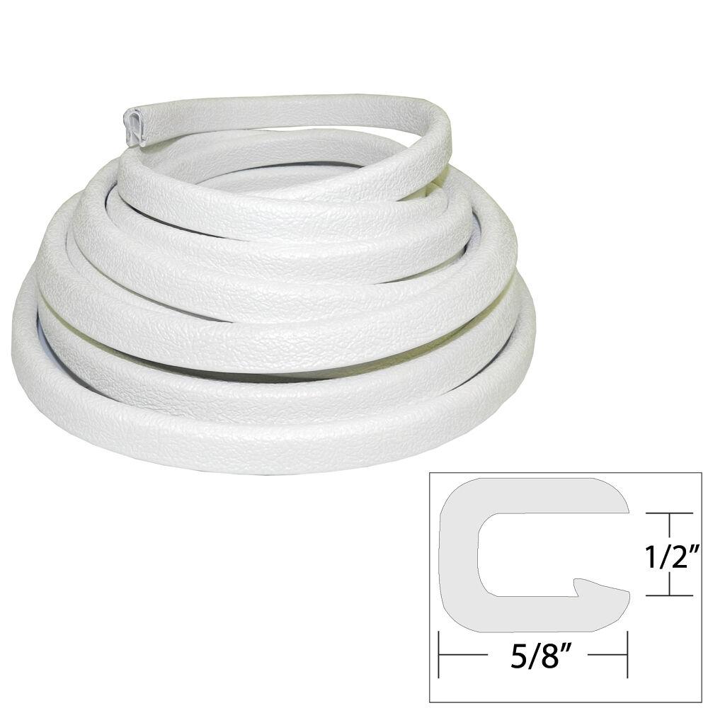 TACO Flexible Vinyl Trim  ½ Opening x ⅝W x 25'L  bianca