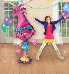 NEW-58-034-TROLLS-POPPY-AirWalker-Jumbo-Foil-Balloon-Kids-Birthday-Party-Supplies