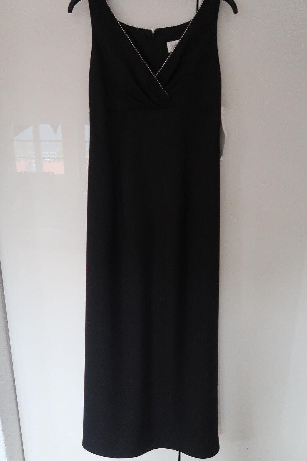 EVER BEAUTY Abendkleid Kleid Gr. 36 - 38, schwarz, Glitzersteine, NP€ 200, NEU