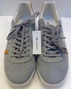 1148ade2171f Lacoste Brendel 3 SRM Grey Canvas Leather Sneakers Men 13 NIB New 7 ...