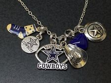 "Western Cowboys Star Football Boot Dallas Charm Tibetan Silver 18"" Necklace"