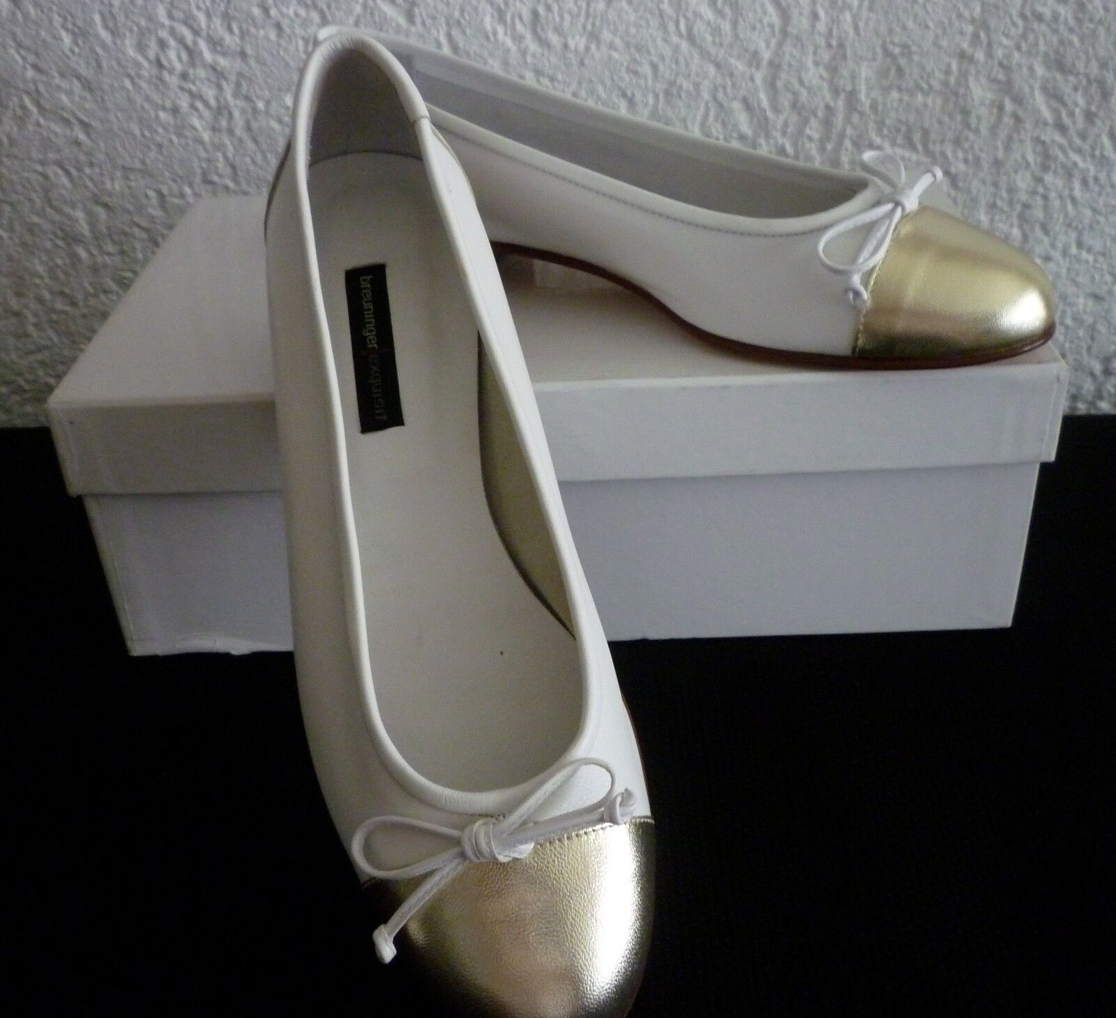 breuninger exquisit Ballerinas - Breuninger Stuttgart - Ballerinas exquisit Gr. 38 weiß - NEU Kart. ef4e5d