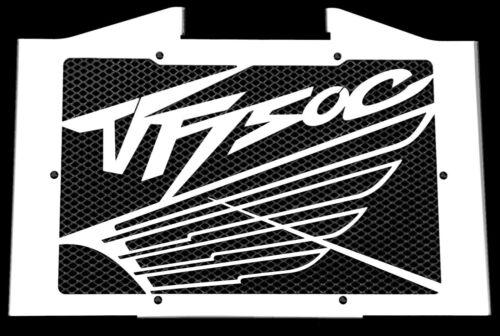 Grille de radiateur inox poli Honda 750 VFC 1993/>1998 Wing cache noir grill