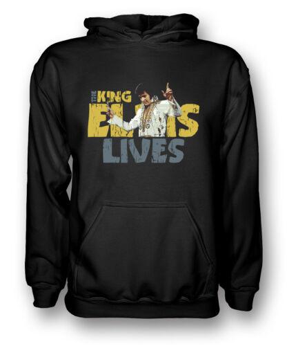 The King Mens Hoodie Elvis Lives