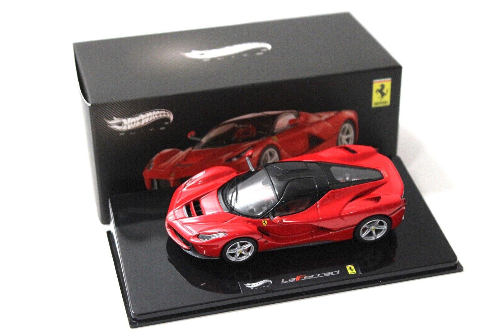 1 43 Hot Wheels Elite Ferrari LaFerrari rouge New chez Premium-modelcars