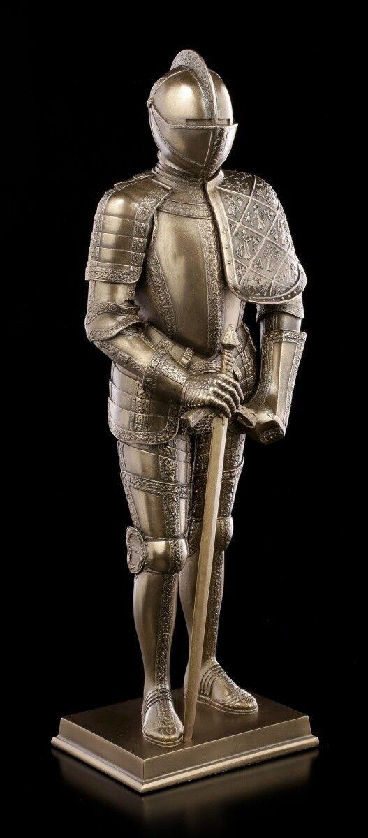 Ritter Figur in Plattenrüstung mit Schwert - Veronese Mittelalter Krieger Deko