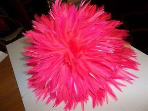 STRUNG-SADDLE-HACKLE-4-034-7-034-Black-Pink-bulk-lot