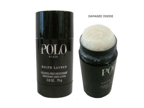POLO BLACK 2.6 Oz AlcoholFree Deodorant Stick for Men Damaged By Ralph Lauren
