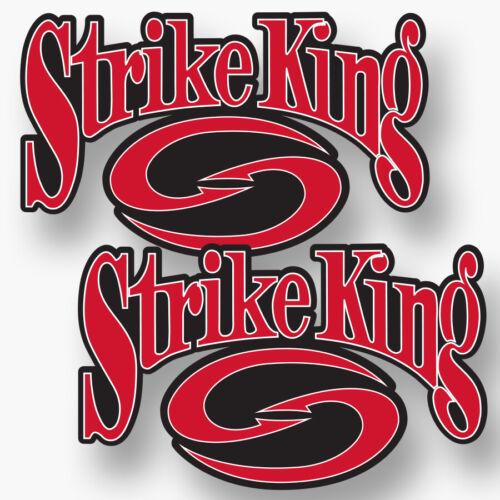 2x STRIKE KING Vinyl Sticker Decal Fishing Boat Sponsor KVD Bait Crankbaits New