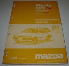 Werkstatthandbuch Mazda 323 Typ BW Station Wagon 4WD Allrad Stand 12/1989!