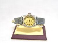 Becker Quarz Damen Uhr aus Edelstahl mit einem Lederarmband