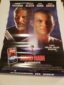 Hard-Rain-Freeman-Slater-27-x-41-1-2-1997-Video-Store-Poster-w-extra