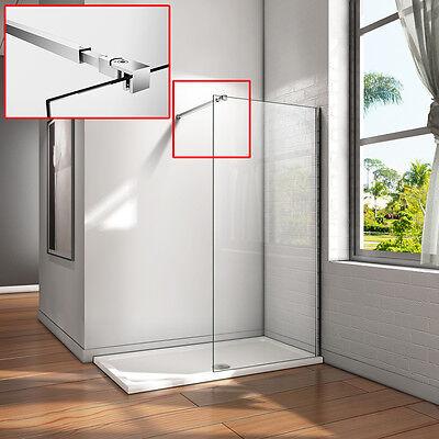Walk in Dusche Duschwand Duschabtrennung Nano Echtglas Duschkabine Stange