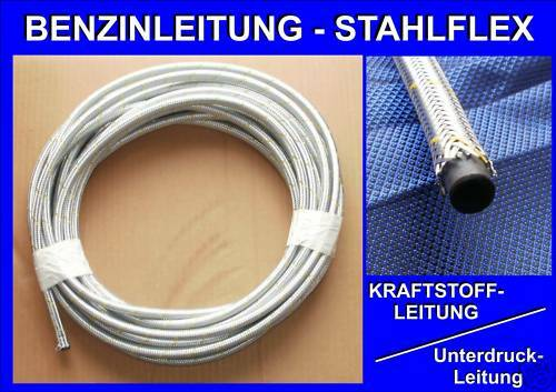 5mm Stahlflex Benzinschlauch Kraftstoffleitung Leitung