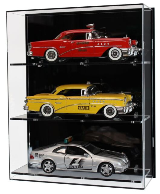 Acrylic Wall Display Case For Three 1 18 Scale Model Cars