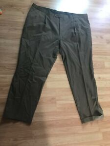 Gray Austin Reed London Men S Dress Pants 46 X 32 Big Tall Super 100 S Ebay