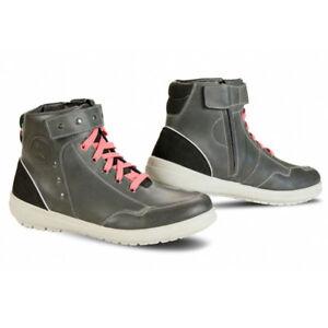 Falco-Alena-Dark-Grey-Ladies-Leather-Short-Motorcycle-Motorbike-Boots-Size-36