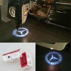 Mercedes Benz C Coupe W204 2015 2 x Door Puddle Light Projector Floor Logo