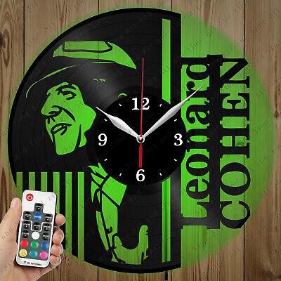 Details about  /LED Clock Leonard Cohen LED Light Vinyl Record Wall Clock LED Wall Clock 1187