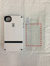 Authentic Speck CandyShell Flip Cover Case White/ Gray iPhone 4/ 4s