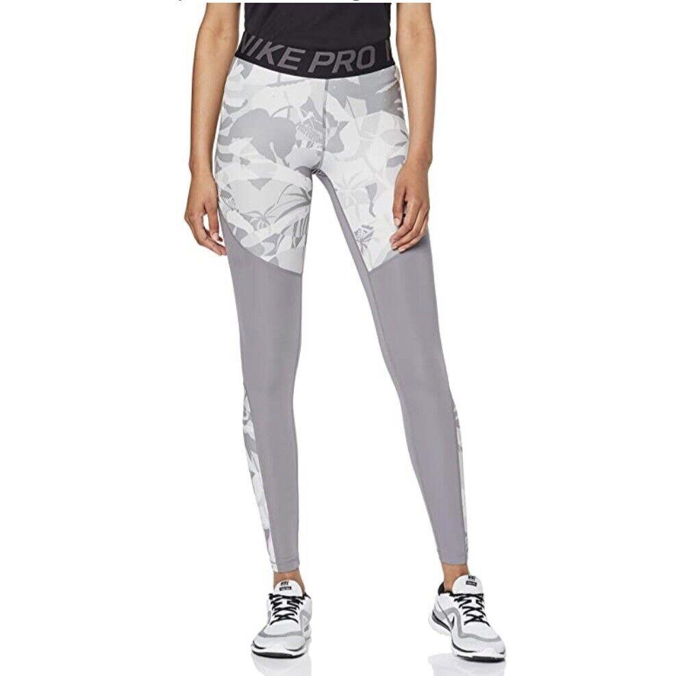 Nike Pro DRI-FIT Women's Training Leggings Forest Camo Size Small (AR6766-059)