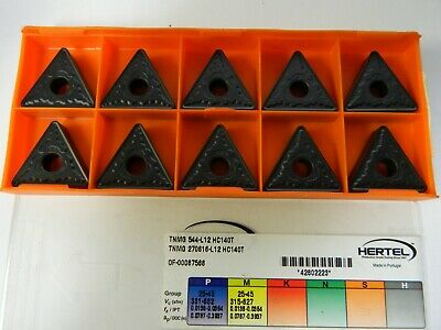 Hertel Carbide Turning Inserts CNMG432-LR Grade HC140T Qty 10 42804864