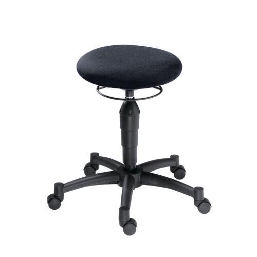 Topstar Sitzhocker Balance 10 schwarz Rollhocker Sitz-Ø 360 mm