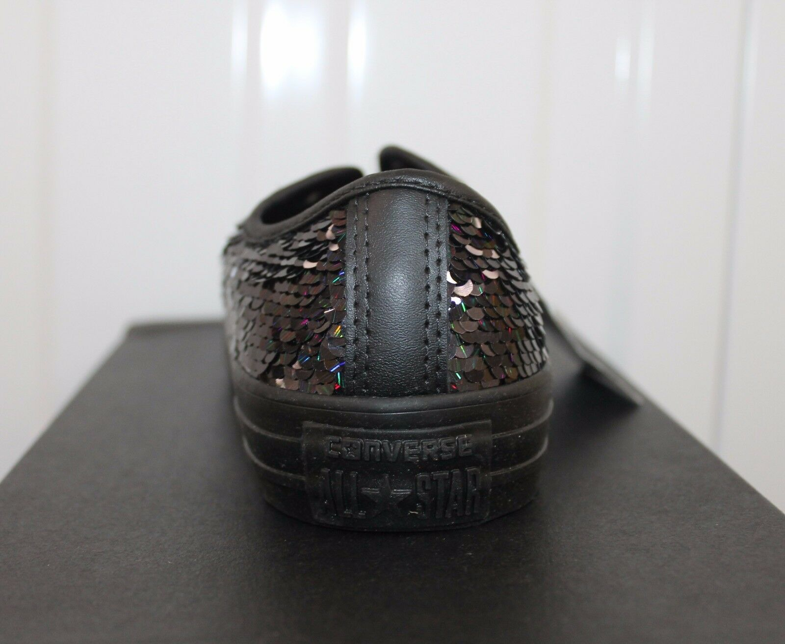 WOMEN,S/GIRL,S CONVERSE HOLIDAY CT ALL STAR SEQUIN HOLIDAY CONVERSE PARTY BLACK  BNIB      15 2e07cd