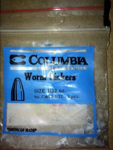 Lead 100  count Columbia Worm  Sinker  1//32 oz AMERICAN MADE