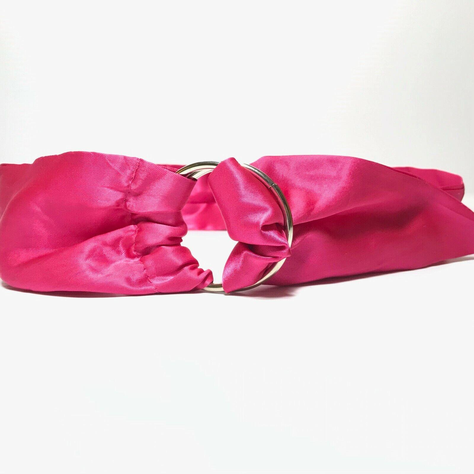Women's Vintage Hot Pink Wide Sash D Ring Belt Si… - image 2