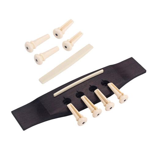 Set Knochenbrücke Pins Sattel Palisander Brücke für 4 Saite Bass Parts