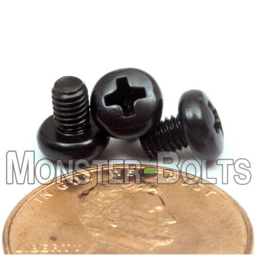 Phillips Pan Head Machine Screws 4.8 Steel Blk Ox M3 3mm x 0.5 x 4mm Qty 10