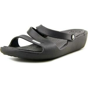 cdc9c070e33e Crocs Patricia Women s Cushioned Wedge Sandals Black Size 11 for ...