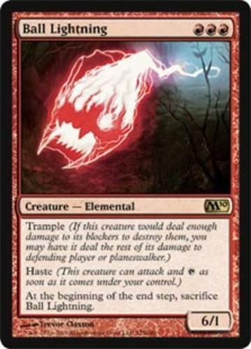 x1 1x Ball Lightning Magic 2010 Slight Play English -BFG- MTG Magic
