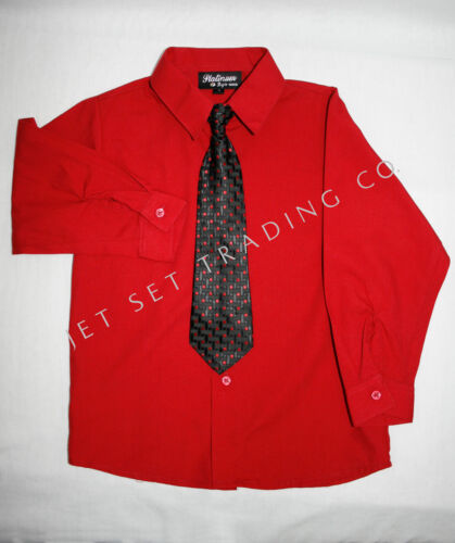 Boys 4 pc Red Vest Set Shirt /& Pant with Matching Tie Sizes 4 to 14
