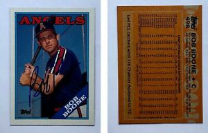 Bob-Boone-Signed-1988-Topps-498-Card-California-Angels-Auto-Autograph